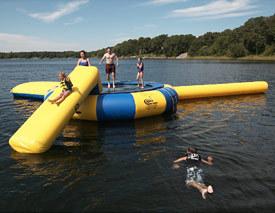 水上トランポリンオプション滑り台