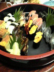 前橋市の寿司店登志鮨の握り寿司