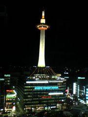 京都駅からみる京都タワー