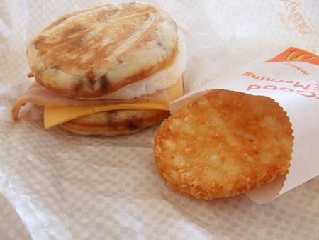 朝マック 「マックグリドル ベーコン&エッグ・チーズ」 / マクドナルド