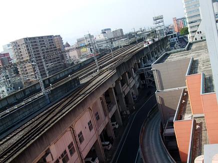 メディアメガ高崎屋上から見た高崎街中