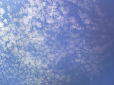 新潟県長岡市9月の空